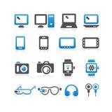 Electronic product icon set Stock Photos