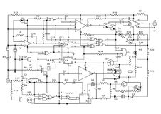 Electronic project. Schematic diagram - design of electronic circuit Royalty Free Stock Photos