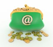 Electronic purse Royalty Free Stock Photo