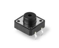 Electronic Pushbutton Switch Macro Stock Photo