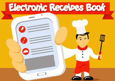 Electronic Recipes Book Royalty Free Stock Images