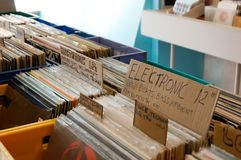 Electronic Records in Retail Store stock image