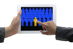 Electronic recruitment process Stock Photo