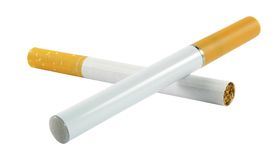 Electronic and regular cigarette Royalty Free Stock Image