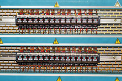Electronic relays. Royalty Free Stock Images