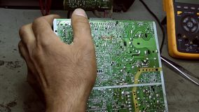 Electronic Repair Technology Soldering and Equipment. Tools stock video footage