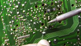 Electronic Repair Technology Soldering and Equipment. Tools stock video
