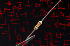 Electronic resistor Stock Images