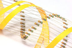 Electronic resistor. On white background Stock Photos