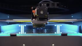 Electronic Robot Production för skrivare 3D Time Lapse arkivfilmer