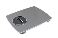 Electronic scales. For weighing of the person Stock Photos