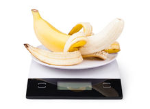 Electronic Scales with banana Stock Image