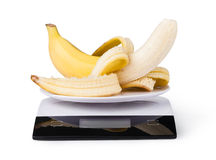 Electronic Scales with banana Royalty Free Stock Photo