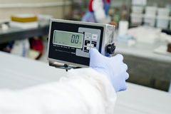 Electronic scales Royalty Free Stock Photography