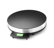 Electronic scales isolated royalty free stock image