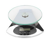 Electronic scales isolated Stock Image