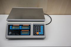 Electronic Scales for weighing food or candy royalty free stock photo