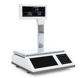 Electronic Scales for weighing Food. 3d Rendering Royalty Free Stock Photo