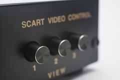 Electronic scart switch royalty free stock images