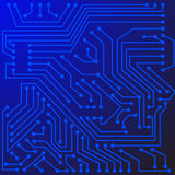 Electronic scheme. Abstract electronic scheme with many contacts stock illustration