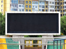 Electronic scoreboard in the city. Big electronic scoreboard in the city stadium Stock Photos