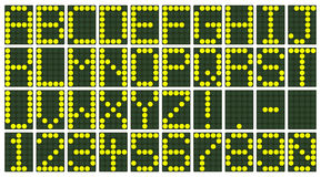 Electronic Scoreboard Display Royalty Free Stock Images