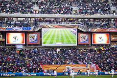 Electronic Scoreboard - FIFA WC 2010 Stock Images