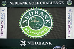 Electronic Scoreboard on the 18th Green - NGC2014 Stock Images