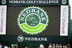 Electronic Scoreboard on the 18th Green - NGC2014 Stock Photography