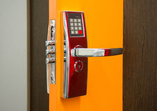 Electronic Security door lock Stock Image
