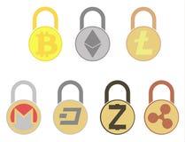 Electronic security lock ,vector icon.   vector disign. Electronic security lock ,vector icon. concept  vector disign. set Royalty Free Stock Photos