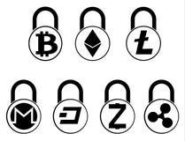 Electronic security lock ,vector icon.   vector disign. Electronic security lock ,vector icon. concept  vector disign. set Stock Photo