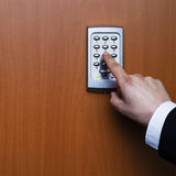 Electronic security system being activated Royalty Free Stock Photos