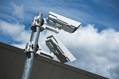 Electronic security video camera Royalty Free Stock Images