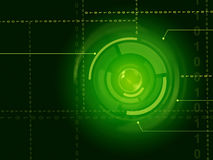 Electronic Sensor Background Shows Laser Circuit Or Energy Beam Stock Photography