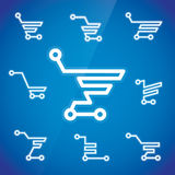 Electronic Shopping Cart Illustration Royalty Free Stock Photos