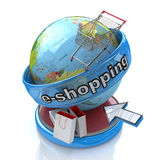 Electronic shopping stock image
