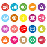 Electronic sign flat icons on white background Royalty Free Stock Images