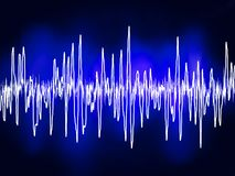 Electronic sine sound or audio waves. EPS 8. File included Stock Image