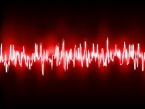 Electronic sine sound or audio waves. EPS 10 Royalty Free Stock Photography