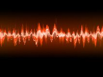 Electronic sine sound or audio waves. EPS 10 Royalty Free Stock Image