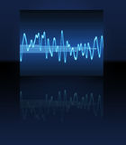 Electronic sine sound wave Stock Photo