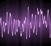 Electronic sine sound wave Royalty Free Stock Photos
