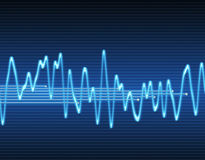 Electronic sine sound wave. Large image of an electronic sine sound or audio wave Royalty Free Stock Photo