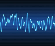 Electronic sine sound wave Stock Image
