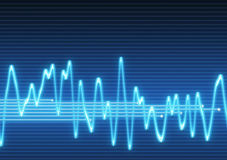 Electronic sine sound wave Royalty Free Stock Image