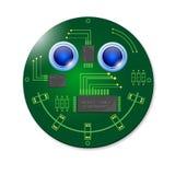 Electronic smiley Stock Photo