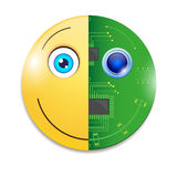 Electronic smiley Stock Photo