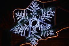Electronic snowflake Stock Image
