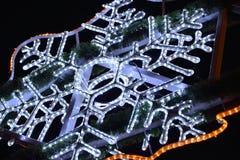 Electronic snowflake Royalty Free Stock Image